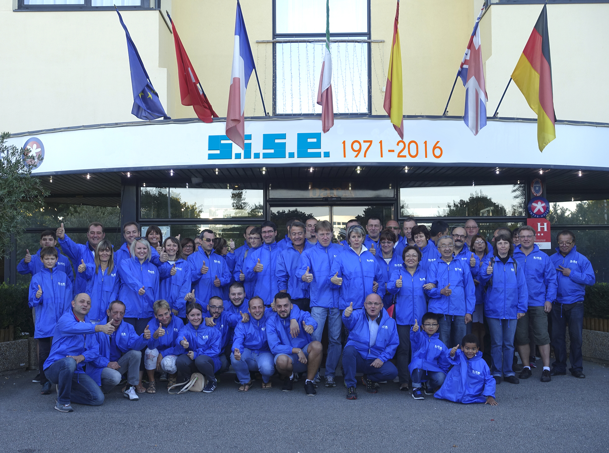The SISE team, at your service for 45 years=